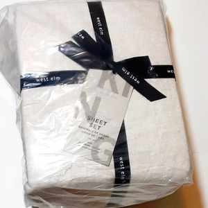 West Elm Belgian Flax Linen Sheet Set- King